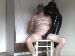 My plastic bag slave (Plastic bag torture and my orgasm)