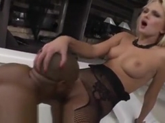 Cumshot On Tits In Threesome