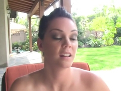 Exotic pornstar Alison Tyler in crazy cumshots, brunette sex movie