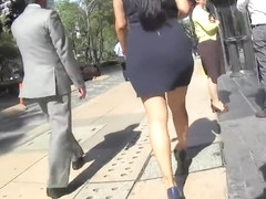 Business women with nice asses on the street