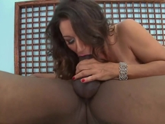 Persia's hairy pussy creampie...what a fucking mess!