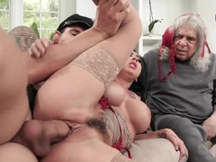 My wife Lily Lane seduces our driver Alex Legend