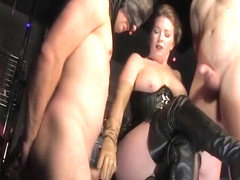 Mistress makes her male slave to suak a dick