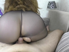 YOUNG WITH BIG ASS IN BLACK PANTYHOSE FUCKED
