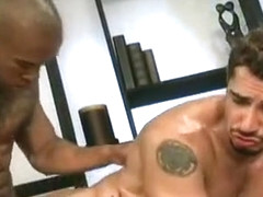 Amazing male in best big dick, interracial homosexual sex clip