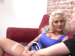 Blonde wife gets bbc cum