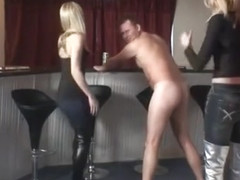 Kat and Suzie Boots Kicks Ballbusting