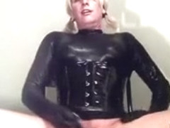 Hottest Homemade Shemale record with Latex, Solo scenes
