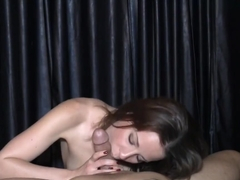 Jasmine Uses Her Hands and Mouth to Tease