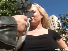 Blonde MILF Babe With Giant Tits Gets Plowed!