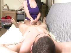 Lewd busty chick Rebeca Linares fingered and licked