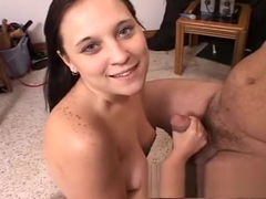 Buxom Sierra enjoys a myriad of sex toys and delivers a deep blowjob