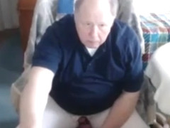 Grandpa cum on webcam 2