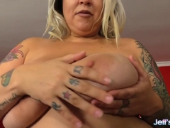 Busty Plumper Kendra Lee Ryan Plays with Her Pussy and Then Gets Banged
