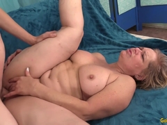 Chunky Granny Kelly Leigh Uses a Younger Guy to Sate Her Desires