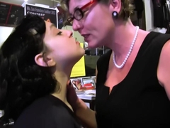 SEXYMOMMA - Pierced pussy gets wet from stepmoms vibrator