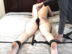 Watch me struggle as I get whipped and disciplined for being a bad girl!