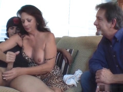 Margo Sullivan - Mom Gives Son Handjob While Dad Watches Margo Sullivan