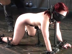 Seductive Sophia Locke performing in BDSM video