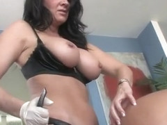 Mature porn video featuring Angela Attison, Raquel DeVine and Brenda James