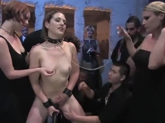 Fine-looking Sarah Shevon in hot amateur sex video in public place