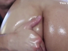 Dirty bambi wolfe caresses fat meat