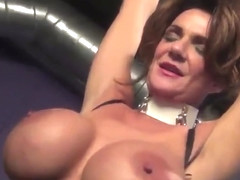 Two mature bitches play with sex toys