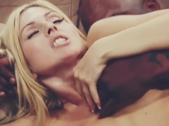 Beautiful blonde vs BBC