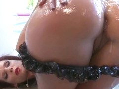 Awesome breasty Syren DeMer gets a cock in the ass in outdoor