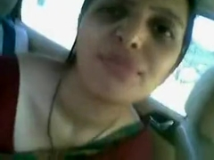 Neww Desi Aunty Meroon Saree In Car Fukng And Sukng Cute Aunty