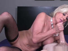 Mature Amateur Tugging On A Hard Cock