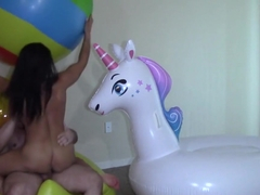 Alexis Rain - Fuck me on all 3 Inflatables