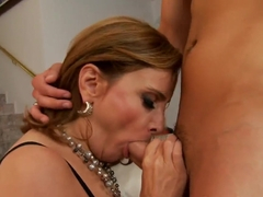 The MILF gets the cucumber up her wet cave