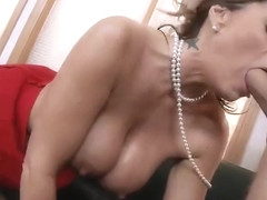 Snazzy shaved MILF Kristal Summers performing in handjob XXX video