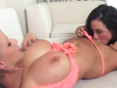 Joslyn James and Ariella ferrera in 4 way fuck