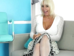 Jan Burton is a naughty blonde woman who knows how to make herself cum, every time