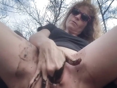 Requested, Stuffing My Pussy With Mud, Getting So Dirty, With Some Squirts!