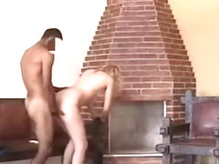 Hot blonde blowjob and fucking in barbecue