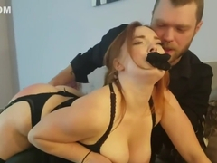 Slutty Neighbor Gets OTK Spanking, Assplay, and Orgasm Controlled