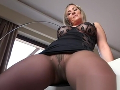 Hot mature showing pantyhose