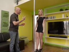 DADDY4K. Horny dad cant resist in front of mesmerizing teen babe