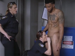Hot police MILF likes sized penis