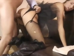 Ass Spreading Babe Gets An Old Cock In Her