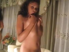 Large nipples ebony home made film