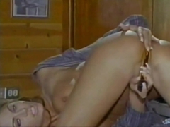 Chasey Lain masturbating and crazy in blowjob with blonde