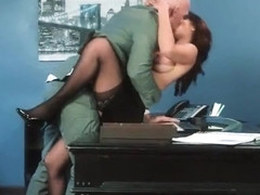 Hard Sex Tape In Office With Big Round Tits Sexy Girl (Isis Love) video-10