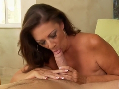 Busty Hot MILF Margo Sullivan Jerks Cum On Her Face