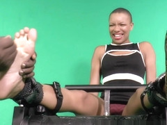 Ebony Q-T's Big Ticklish Feet