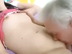 Juicy Young Hottie Enjoys Getting Old Rod In Pussy