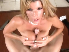 Marvelous yellow-haired mom Kristal Summers attending in amazing blowjob porn